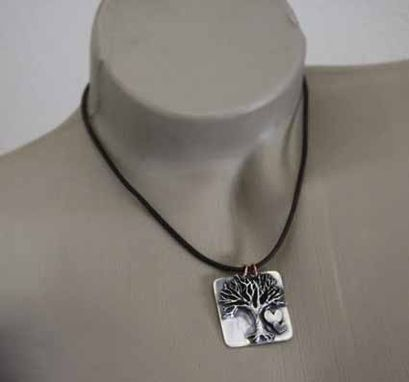 Custom Made Fine Silver Tree Necklace