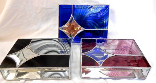 Custom Made Wedding Attendants Stained Glass Jewelry Boxes