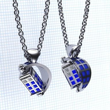 Custom Made The Spin Doctor- Tardis Pendants
