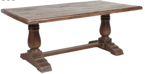 Custom Made Classic Trestle Dining Table In Reclaimed Hardwoods