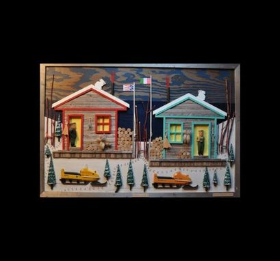 Custom Made 'Cabin Fever' Wooden Wall Art