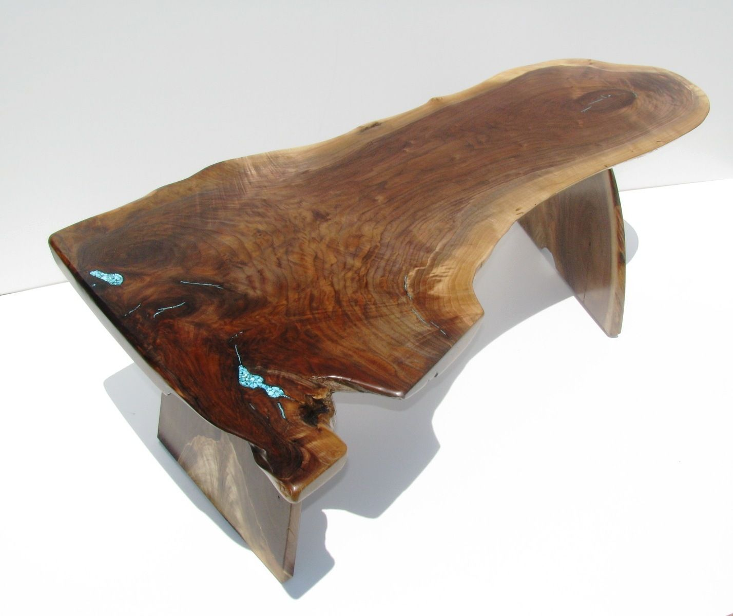 Hand Made Highly Figured Walnut Stump Coffee Table By Haymore Enterprises Inc
