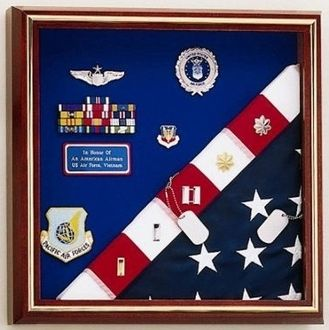 Custom Made Flag Display Case - American Made For Flag And Medals