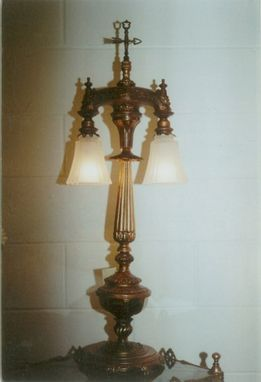 Custom Made 2 Light Table Lamps