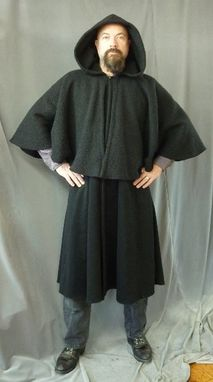 Custom Made Unlined Caped Coat With Pockets And Hood