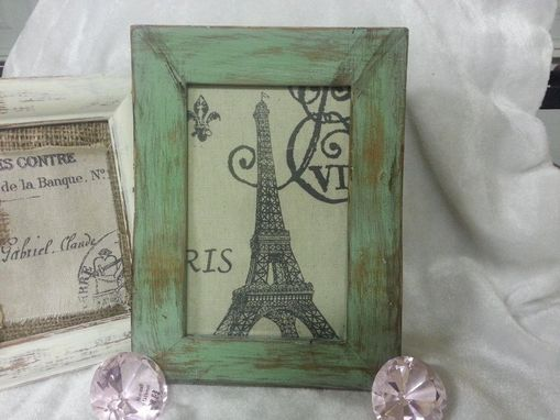 Custom Made Green Distressed Picture Frame