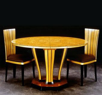 Custom Made Saarinen Dining Table With Fluted Chairs