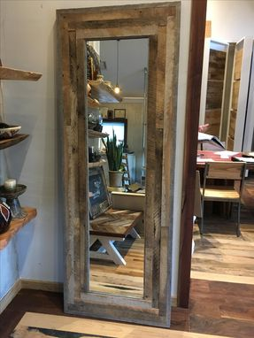 Custom Made Reclaimed Wood Leaning Wall Mirror Or Door.