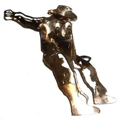 Custom Made Rodeo Cowboy Wall Sculpture