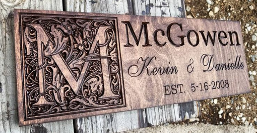 Custom Made Personalized Wedding Plaque Gift