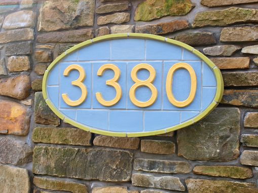 Custom Made Contemporary Tile Address Sign