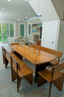 Custom Made Bamboo Dining Table With Benches
