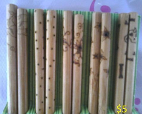 Custom Made Wood Burned Chopsticks