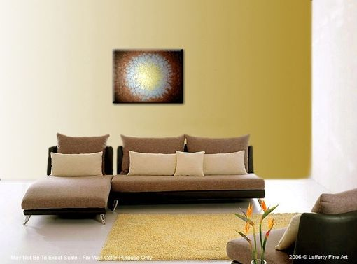 Custom Made Contemporary Abstract Gold Original Metallic Textured Painting By Lafferty - 24 X 30