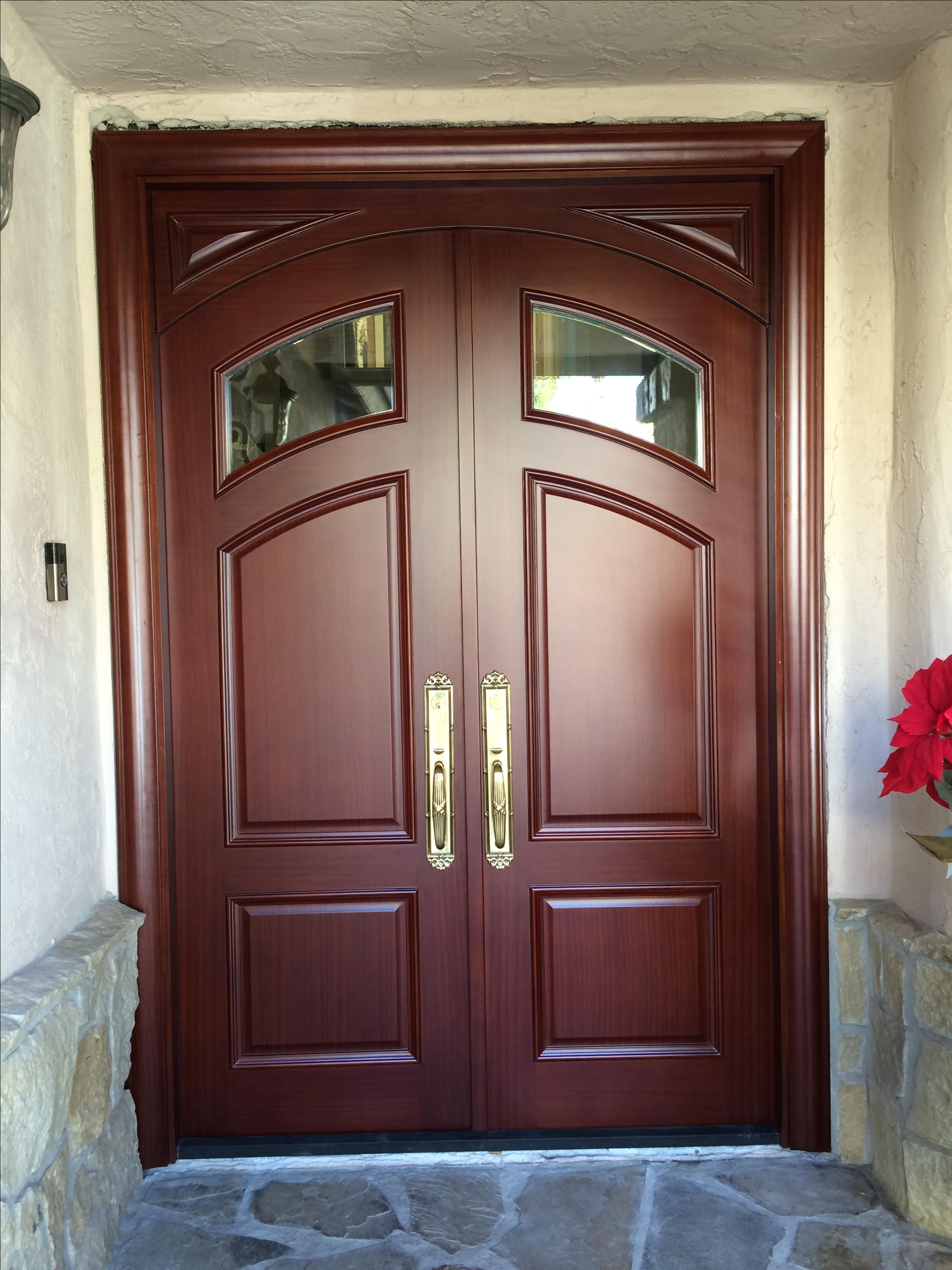 Hand Crafted 5 X 8 Mahogany Residential Entry Door With Radius