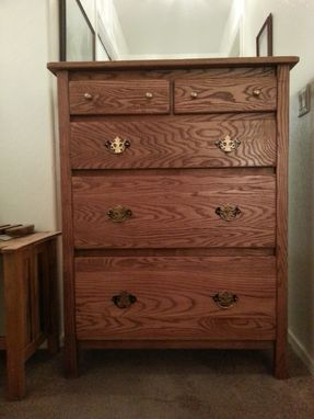 Custom Made Solid Oak Chest Of Drawers