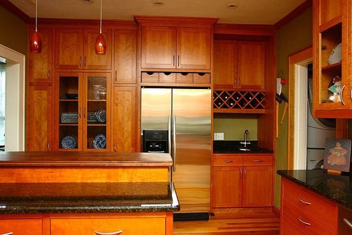 Custom Made Shaker Style Kitchen In Cherry