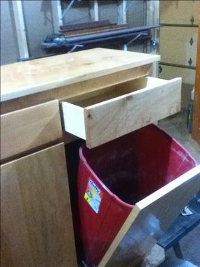 Custom Made Recycle And Garbage Can Cabinet