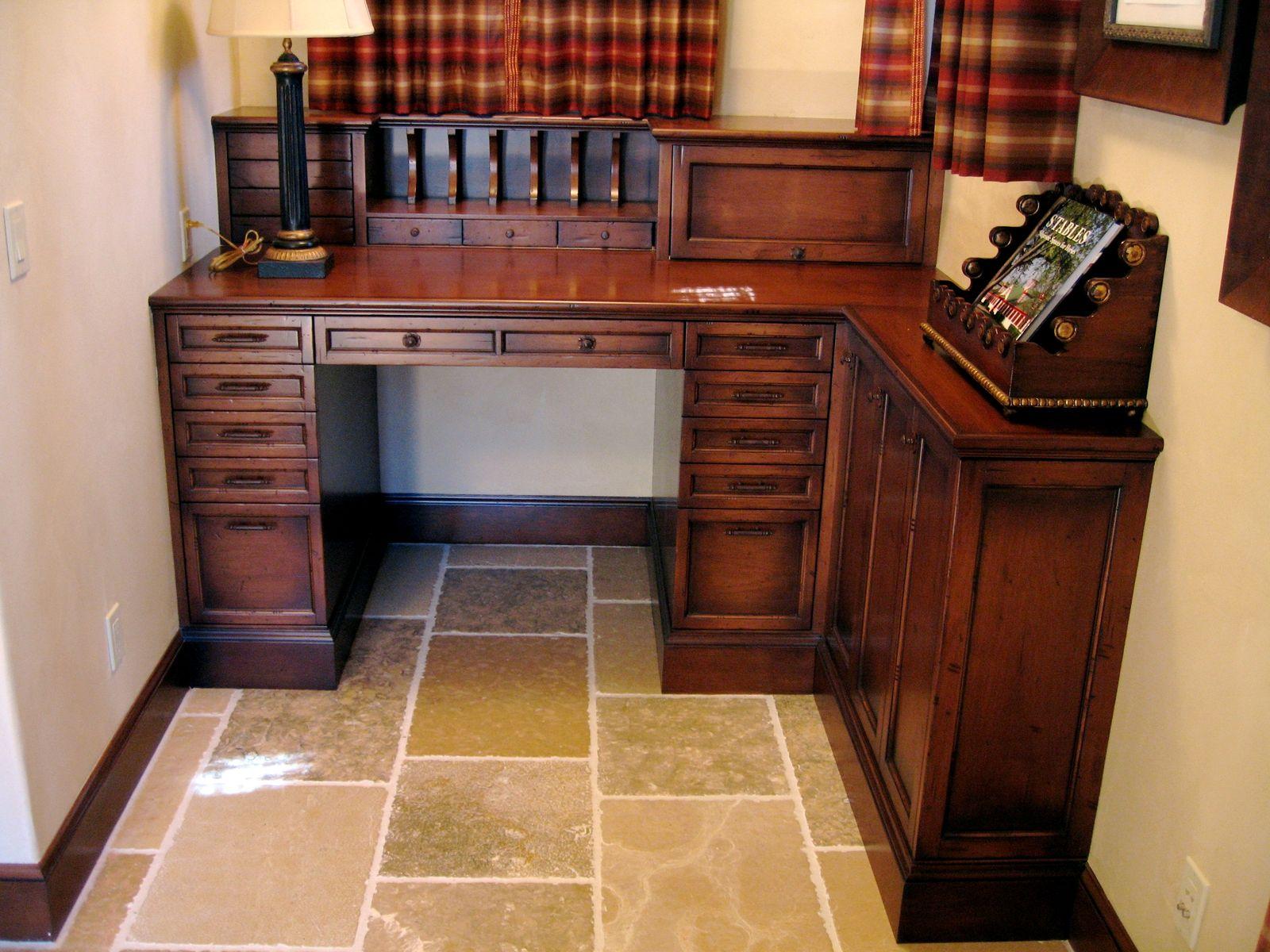 Hand Made Desk hand made custom alder built-in deskps woodworking