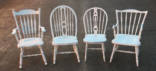 Custom Made Custom Painted Mismatched Farmhouse Dining Chairs