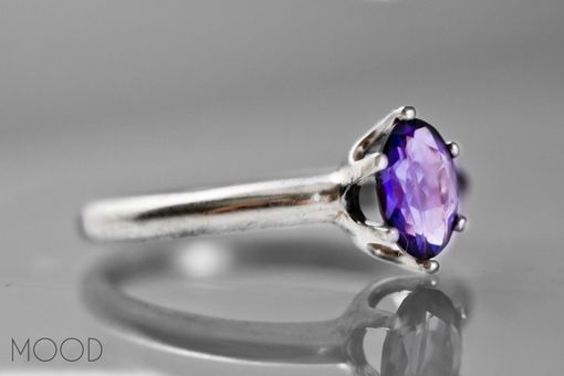 Custom Made Petunia - Gemstone Ring With Iolite And Argentium Sterling Silver - Size 7