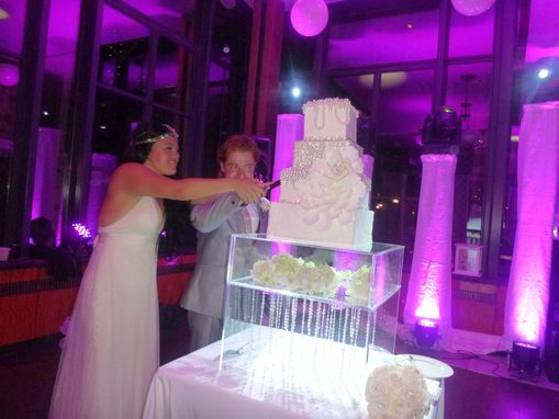 Custom Made Lucite / Acrylic Cake Stand Display Deluxe, Great For Weddings Or Parties - Handcrafted