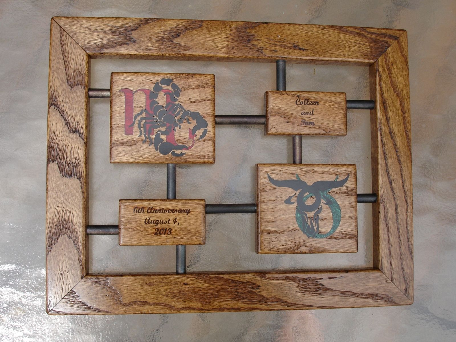 Custom Anniversary Gift Wood And Iron By Awl Woodworks