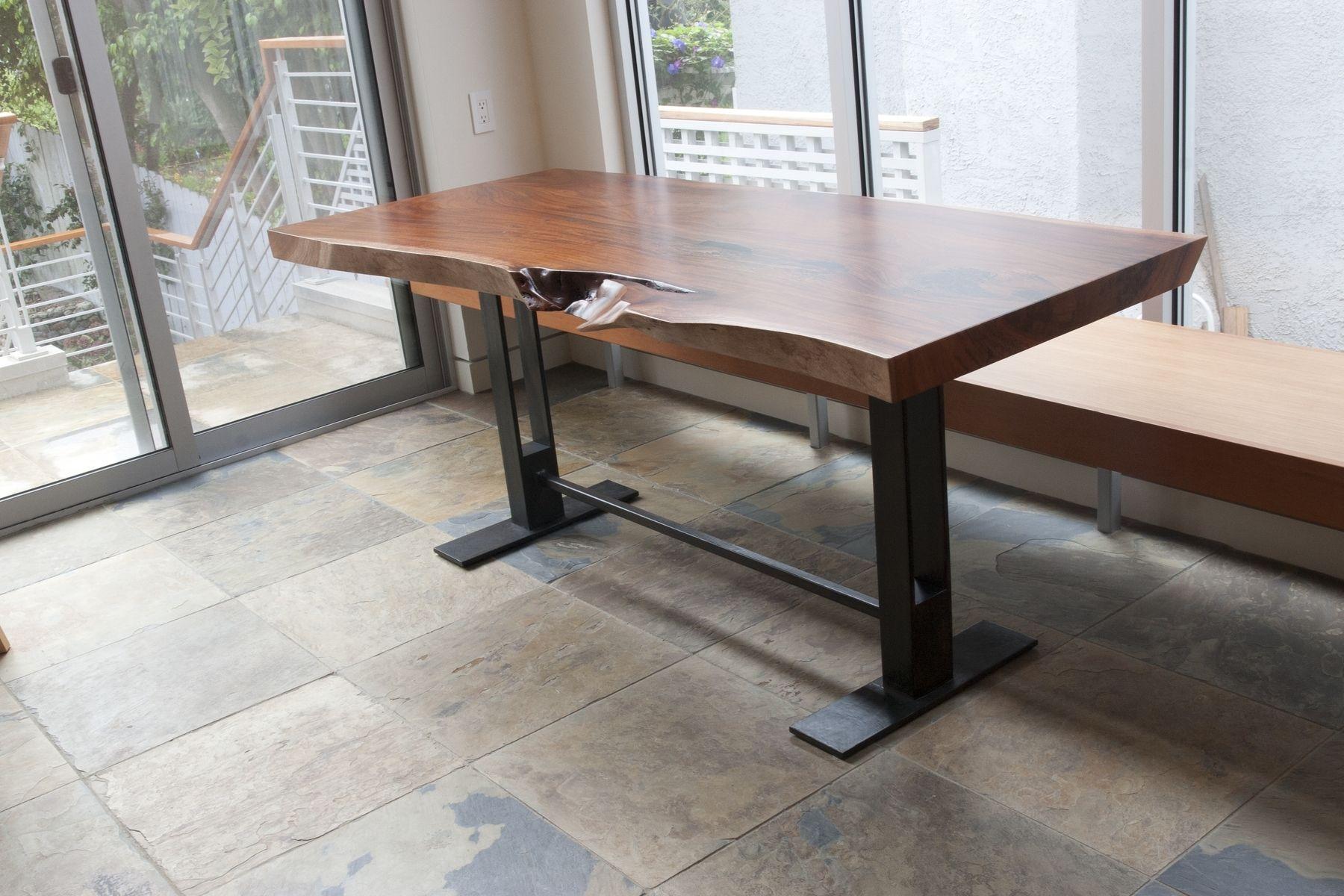 Custom Elegant Industrial Kitchen Table by Studio Deline ...
