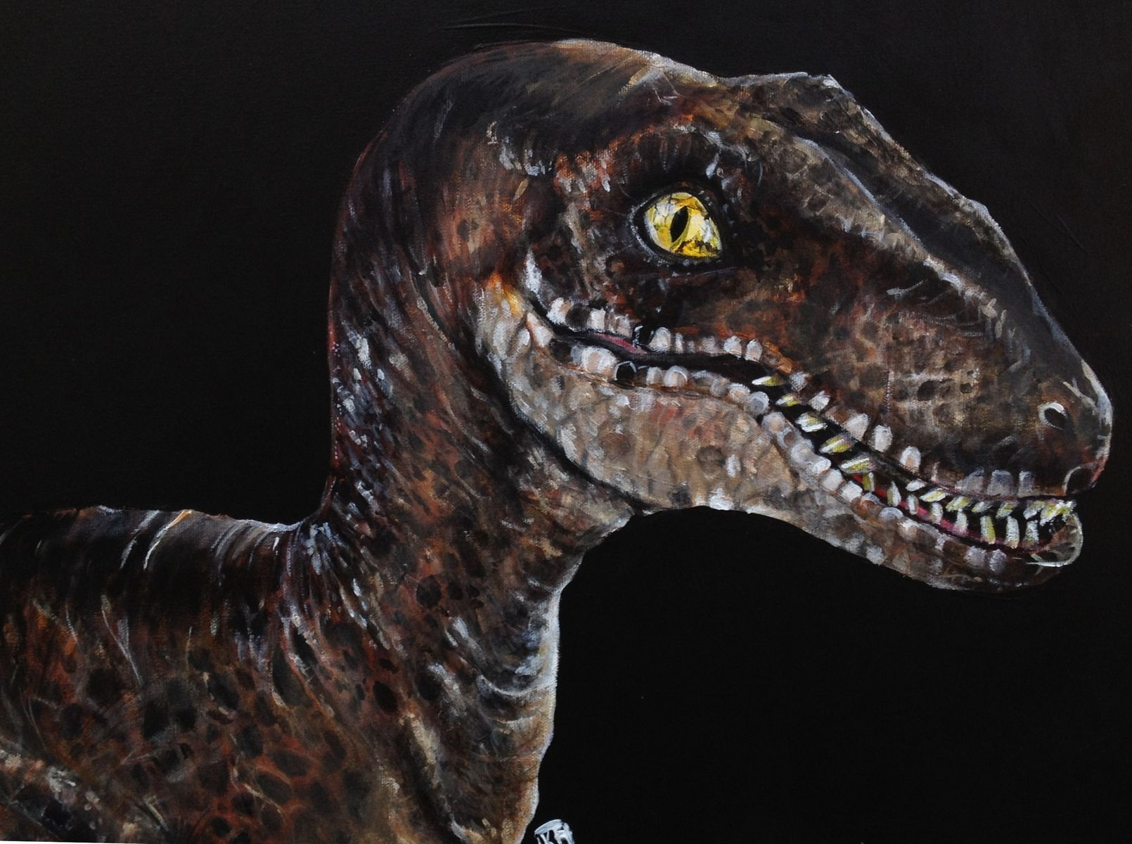 Handmade Fun Dinosaur Themed Acrylic Painting By Artwork