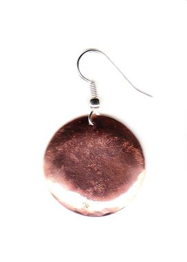 Custom Made Hammered  Copper  Earrings