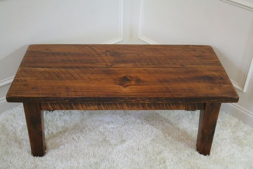Custom Made Rough Sawn Pine Rustic Style Coffee Table
