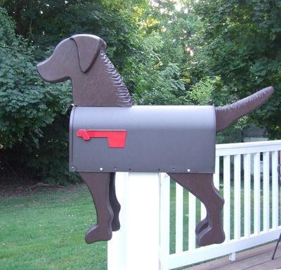 Custom Made Brown Dog Mailbox Art (Chesapeake Bay Retriever)