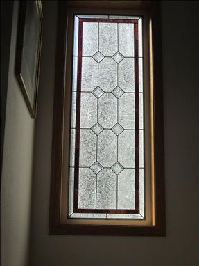 Custom Made Stairway Stained Glass Window