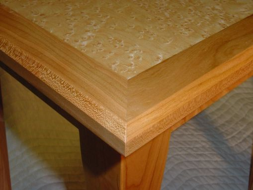 Custom Made Birdseye Maple And Cherry End Tables