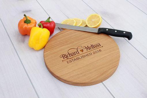Custom Made Personalized Cutting Board, Engraved Cutting Board, Custom Wedding Gift – Cbr-Wo-Richardmelissa