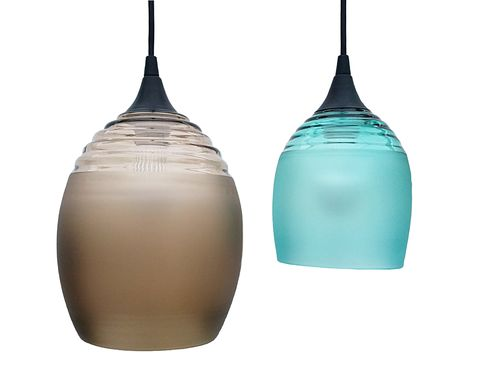 Custom Made Ripple Series: Hand Blown Glass Pendant Lights