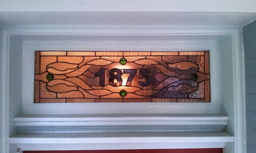 "Custom Made Stained Glass Transom Window - ""Traditional Design Ii"" (Am-53)"