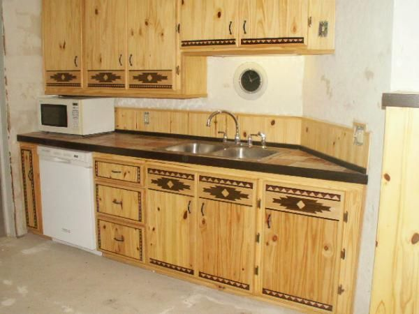 Hand crafted south western country kitchen make over by for Western kitchen cabinets