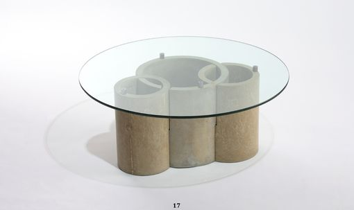 Custom Made Concrete And Glass Coffee Table