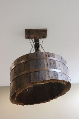 Custom Made Massive Barrel Chandelier