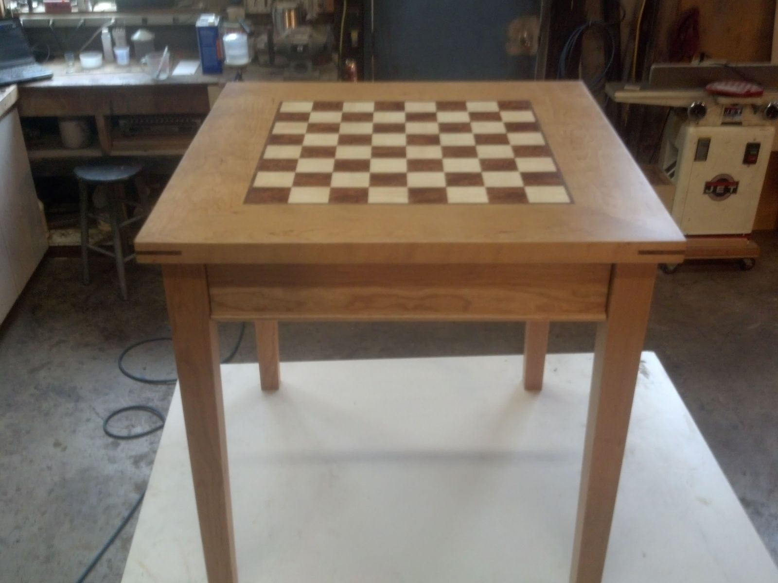 Hand Crafted Cherry Chess Table by Puddle Town Woodworking | CustomMade.com