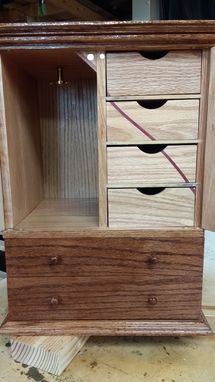 Custom Made Small Jewelry Armoire