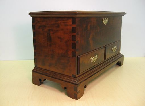 Custom Made Cherry Miniature Blanket Chest With Drawers And Till