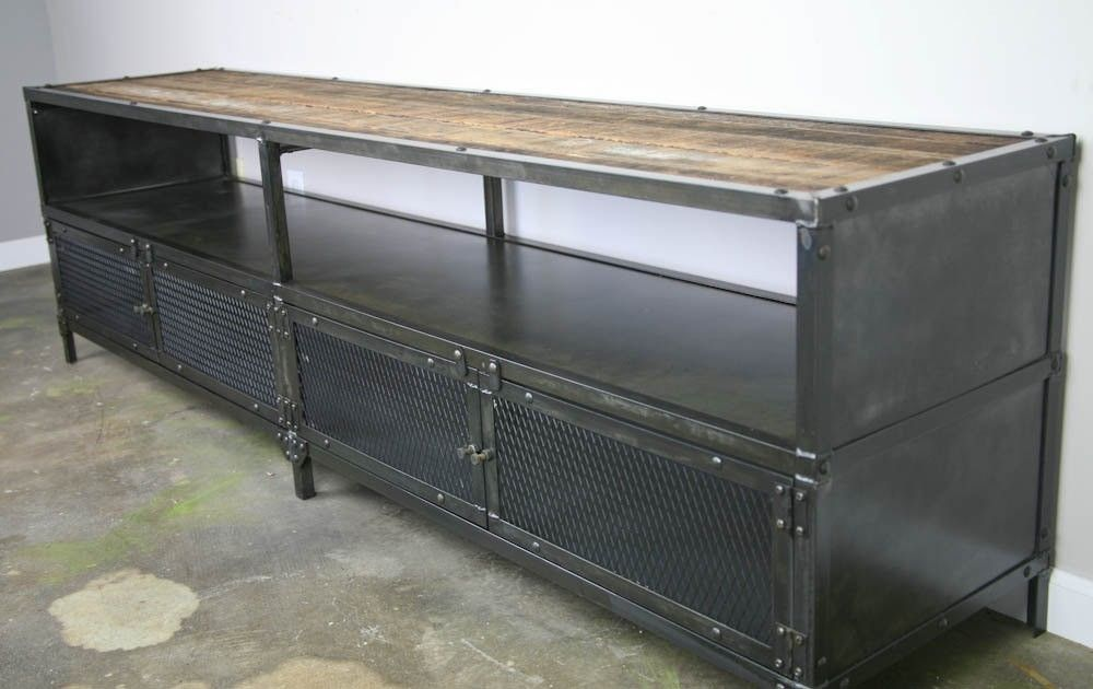 saveemail industrial home office. Custom Made Industrial Media Console/Credenza - Urban Modern, Vintage Credenza. Reclaimed Wood Saveemail Home Office