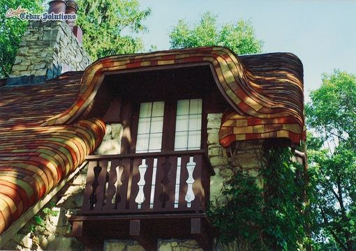 Hand Crafted Quot Gingerbread Quot Roof Using Cedar Shingles On A