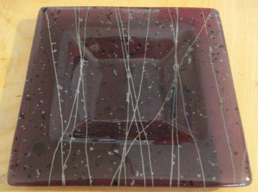 Custom Made Fused Glass Purple Candy Tray