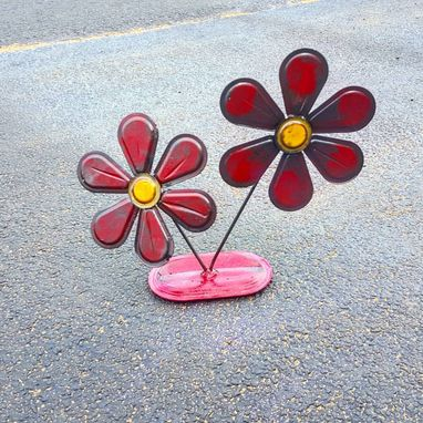Custom Made Metalwork Outdoor Flower Sculpture