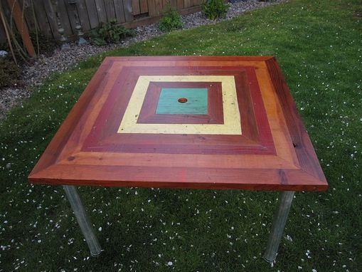 Custom Made Square Ringed Patio Table