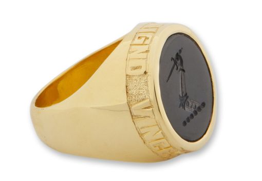 Custom Made British Family Crest  Gold Signet Ring