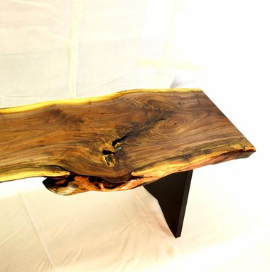 Custom Made Walnut Burl Bench